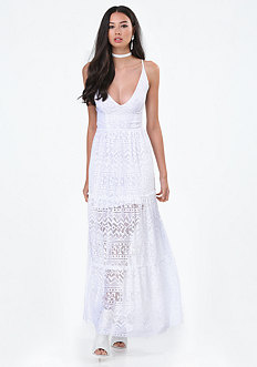 Petite Gia Lace Maxi Dress