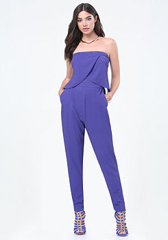 bebe Wrap Overlay Jumpsuit