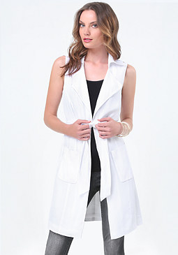 bebe Tie Wrap Trench Coat