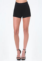 bebe Melina Crepe Knit Shorts