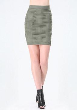 bebe Textured Miniskirt
