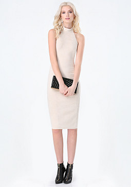 bebe Faux Suede Crisscross Dress
