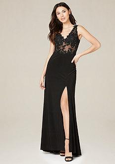 Desi Lace Applique Gown