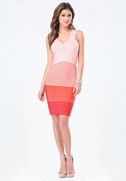 bebe Gradient Bandage Dress