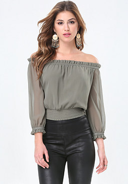 bebe Kate Off Shoulder Top