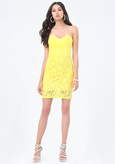 Betty Lace Strapless Dress