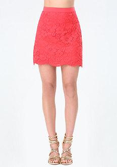 Nadia Lace A-Line Miniskirt