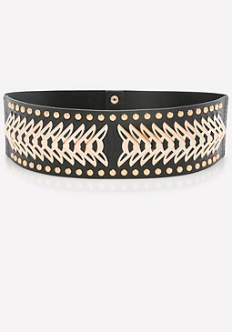 bebe Metalwork Stretch Belt
