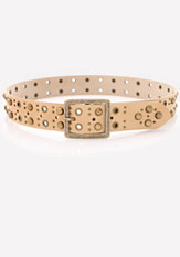 bebe Studded Buckle Belt