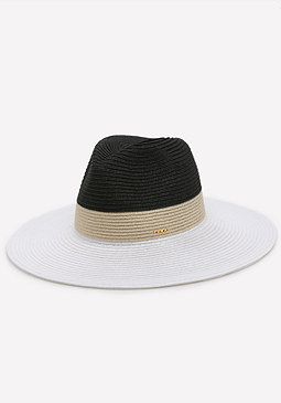 bebe Colorblock Panama Hat