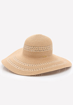 bebe Multi-Weave Floppy Hat
