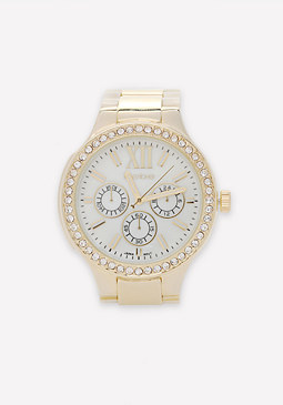 bebe Faux Horn Link Watch