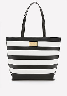 bebe Mimi Striped Tote