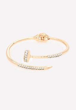 bebe Crystal Screw Bracelet