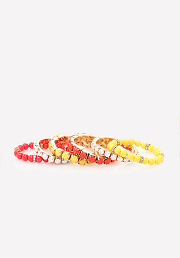 bebe Colorful Beads Bracelet Set