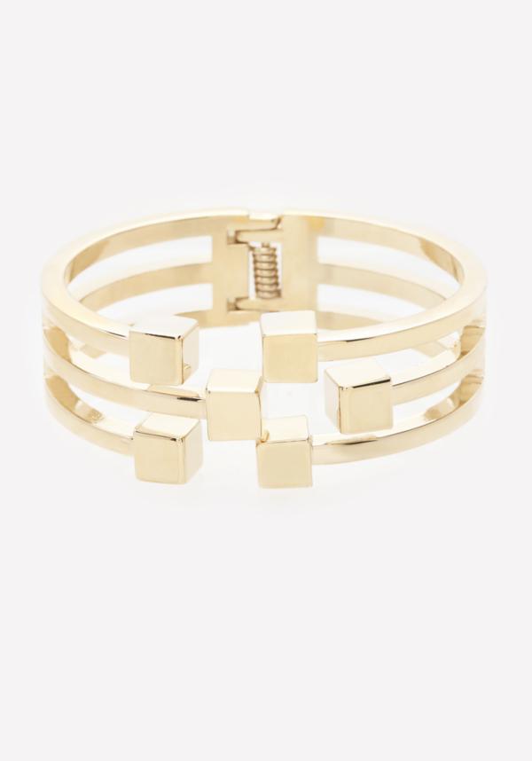 Cube Cutout Hinge Bracelet
