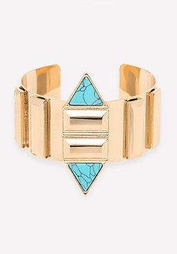 bebe Tribal Inspired Metal Cuff