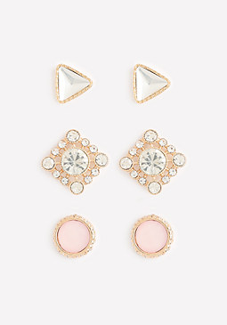 bebe Pretty Stud Earring Set