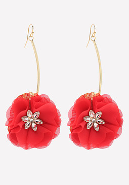 bebe Crystal Poppy Earrings