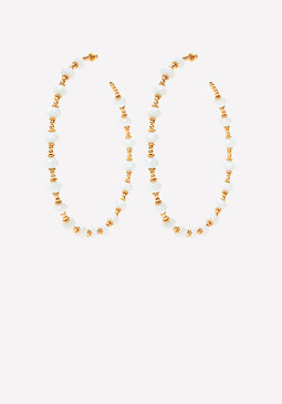 bebe Beaded Hoop Earrings