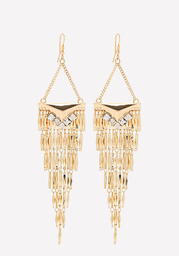 bebe Fringe Statement Earrings