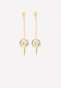 bebe Circle & Spike Earrings