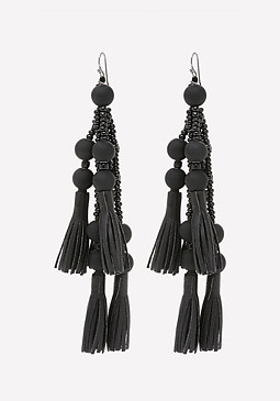 bebe Bead & Tassel Earrings