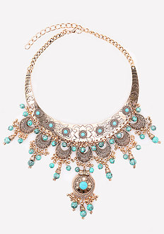 Beaded Filigree Necklace
