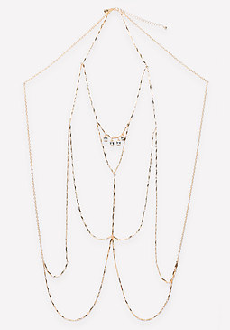bebe Delicate Crystal Body Chain