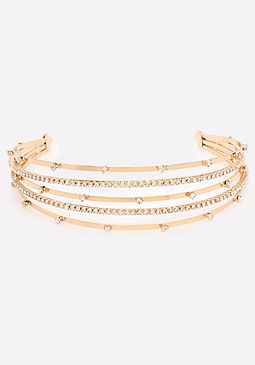 bebe Crystal Multi-Row Headband