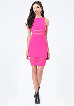 bebe Power Knit Racerback Dress