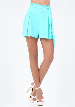 bebe Pleated Leg Shorts