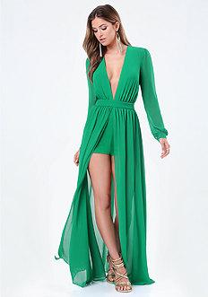 Georgette Plunge Gown