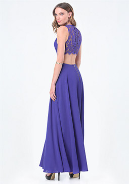 bebe Back Cutout Gown
