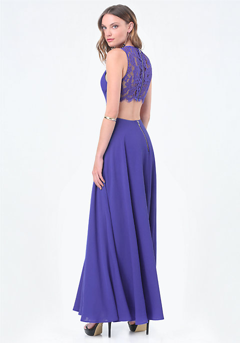 Back Cutout Gown | bebe