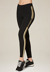 bebe Logo Racer Stripe Leggings