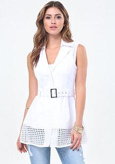 Bianca Eyelet Trench Vest