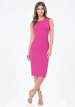 bebe Petite Bodycon Midi Dress
