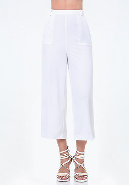 bebe Wide Leg Crop Pants