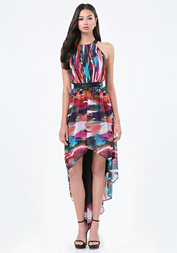 bebe Caitlyn Hi-Lo Dress