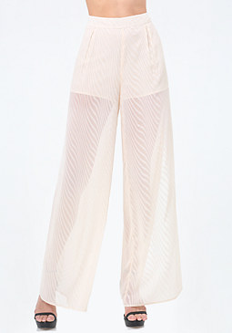 bebe High Slit Wide Leg Pants