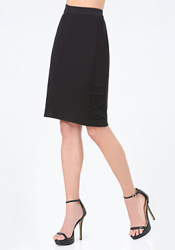 bebe Strap Detail Pencil Skirt