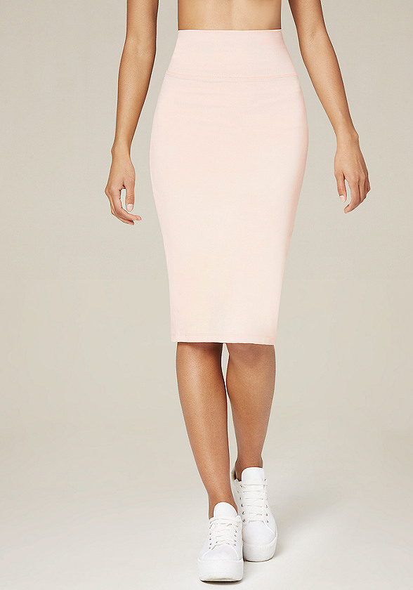 Beige High Waisted Skirt | Jill Dress