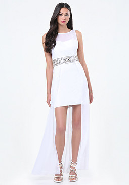 bebe Petite Embellished Dress