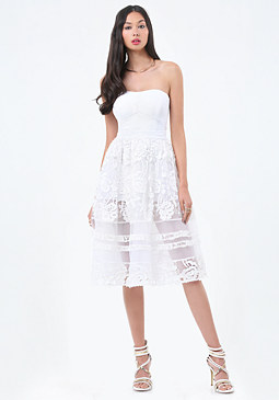 bebe Petite Embroidered Dress