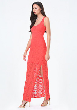 bebe Petite Pointelle Maxi Dress
