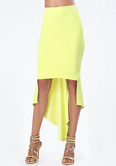 Hi-Lo Bodycon Skirt