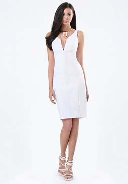 bebe Petite Seamed Dress