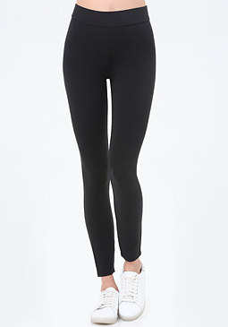 bebe Logo Solid Leggings