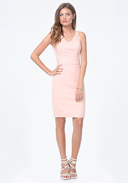 Sleeveless V-Neck Dress at bebe